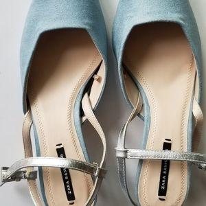 Zara basics light blue shoes